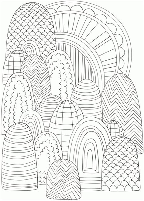 Coloring Pages Abstract Designs Easy - Coloring Home