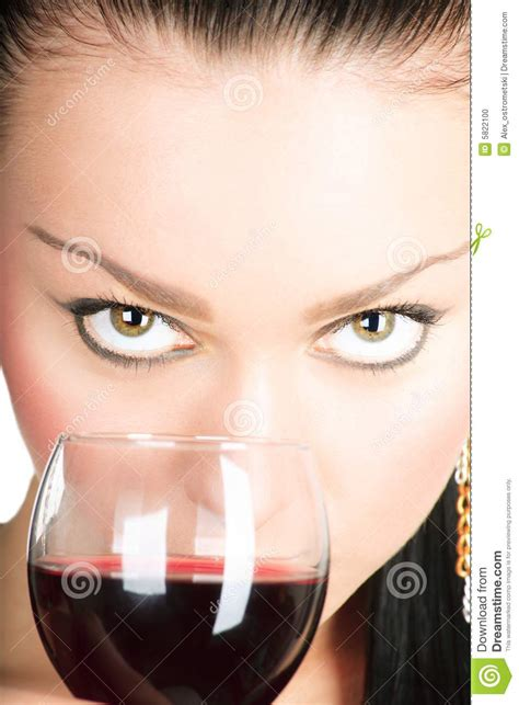 Lady With A Glass Of Red Wine Stock Photo - Image: 5822100
