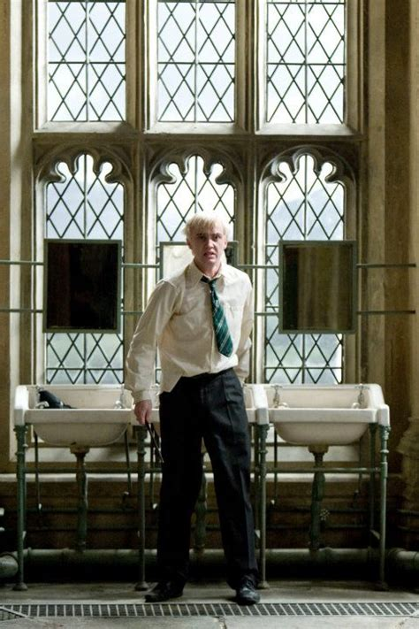 Draco Malfoy in Moaning Myrtle's bathroom | Sonserina