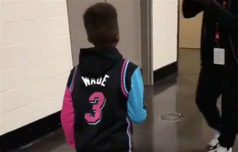 Video: Chris Paul and His Son Arrive in Dwyane Wade Gear