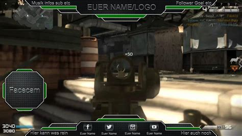 Twitch Overlay Call of Duty Ghosts #1 ( Free PSD Download