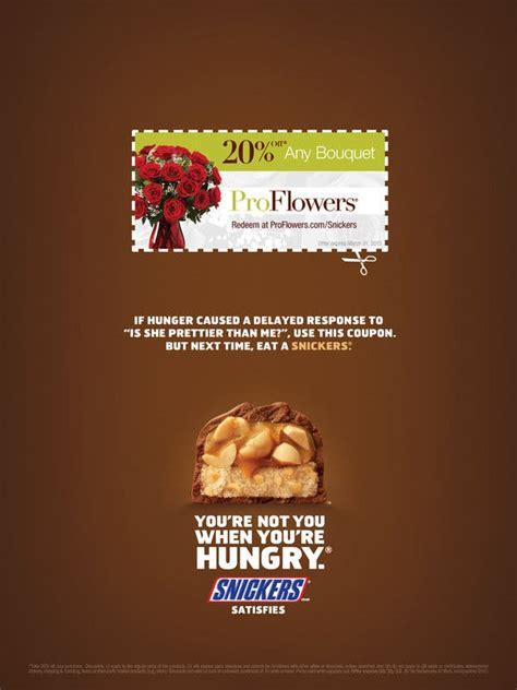 Snickers Aims Print Ads at Consumers 'Hungry' for