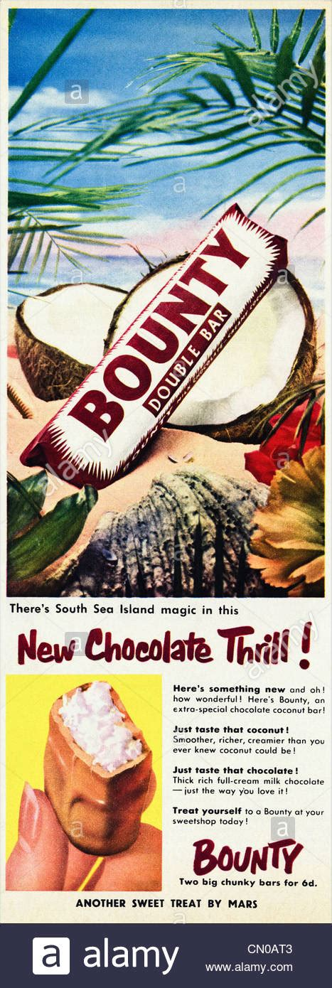 BOUNTY chocolate covered coconut bar by MARS advert