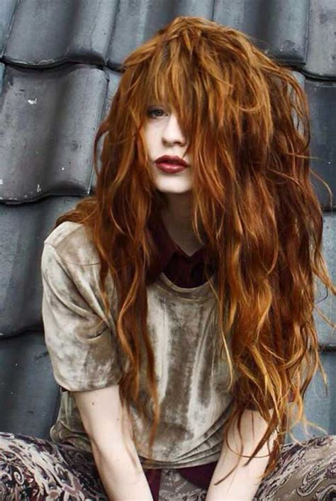20+ Red Long Hairstyles   Hairstyles and Haircuts   Lovely