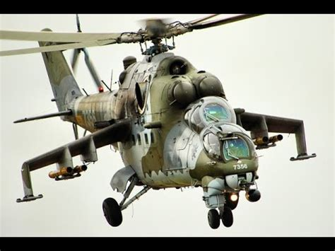 Military Mil Mi-24 in action at german airshow - YouTube