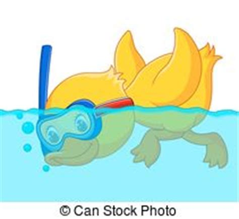 Snorkeling Illustrations and Clipart