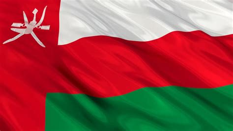 Flag of Oman Waving in Stock Footage Video (100% Royalty