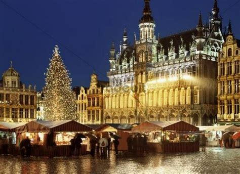 Grand Place, Brussels, Belgium at Christmas