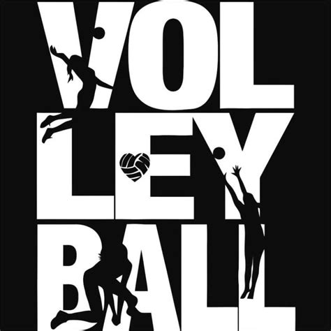 Volley silhouettes Póló - Volleyball